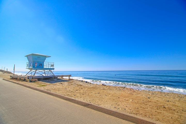 Carlsbad Beach View with Lifeguard Stand